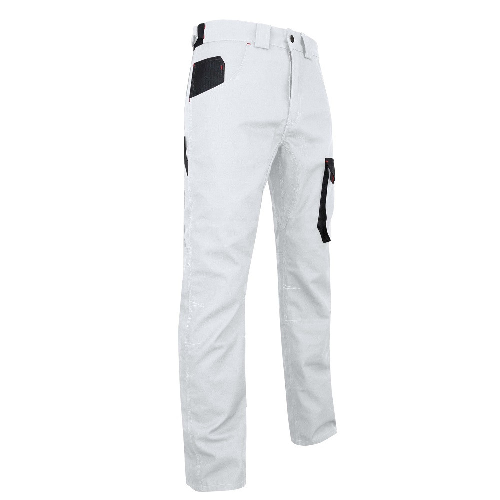 Pantalon Peintre Bicolore multipoches LMA Facade - Blanc/gris