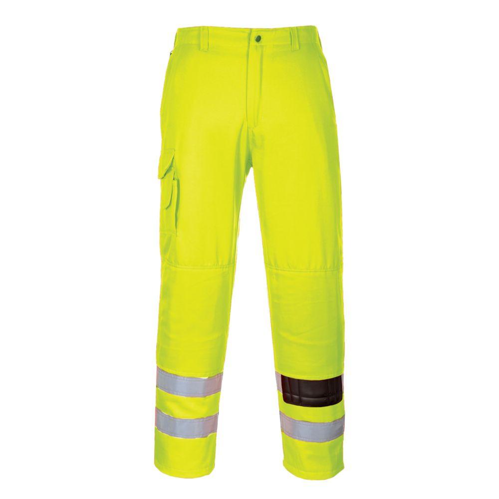 Pantalon haute visibilité Portwest Combat Polycoton Genouillères - Jaune