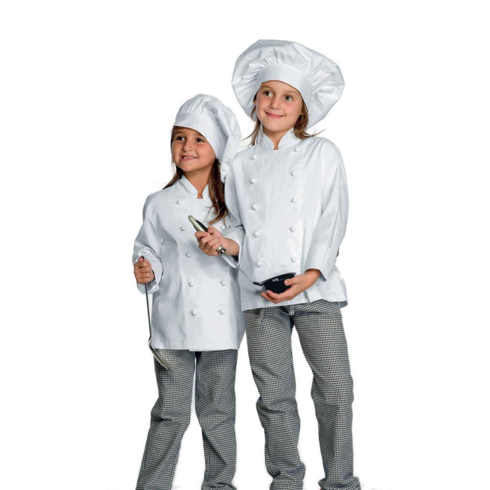 Pantalon de cuisine Enfant Isacco 100% coton Pantababy - Pied de poule