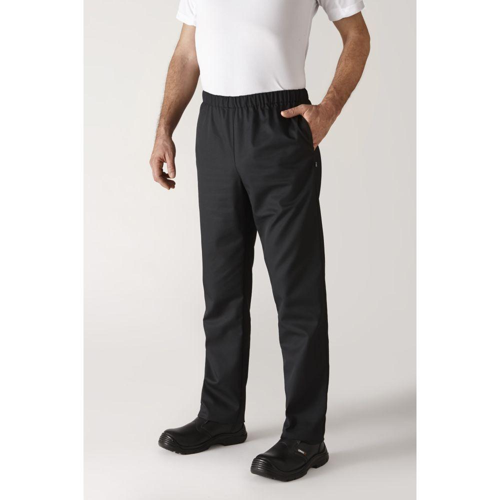 Pantalon de cuisine Robur Umini mixte - Noir