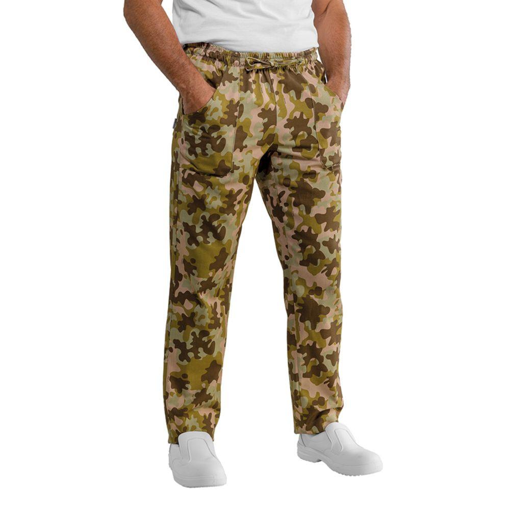 Pantalon de cuisine Camouflage Kaki Isacco Mimetico Unisexe - Camouflage Kaki