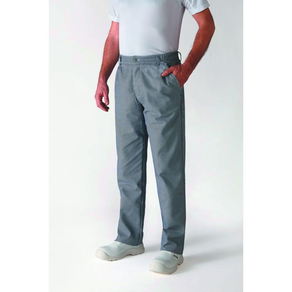 Pantalon de cuisine ceinture élastiquée Robur Timeo - Pied-de-Poule