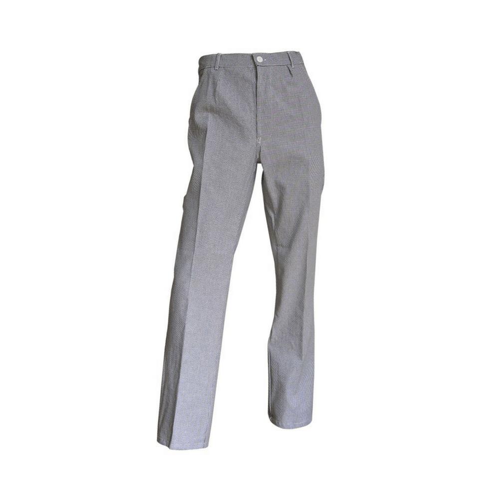Pantalon de cuisine classique motif pied-de-poule Morteau LMA - Gris
