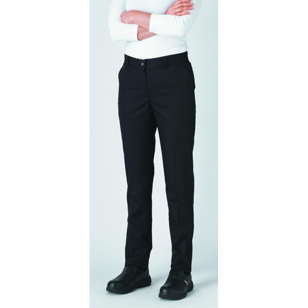 Pantalon de cuisine femme slim ceinture élastiquée Robur Adelie - Noir
