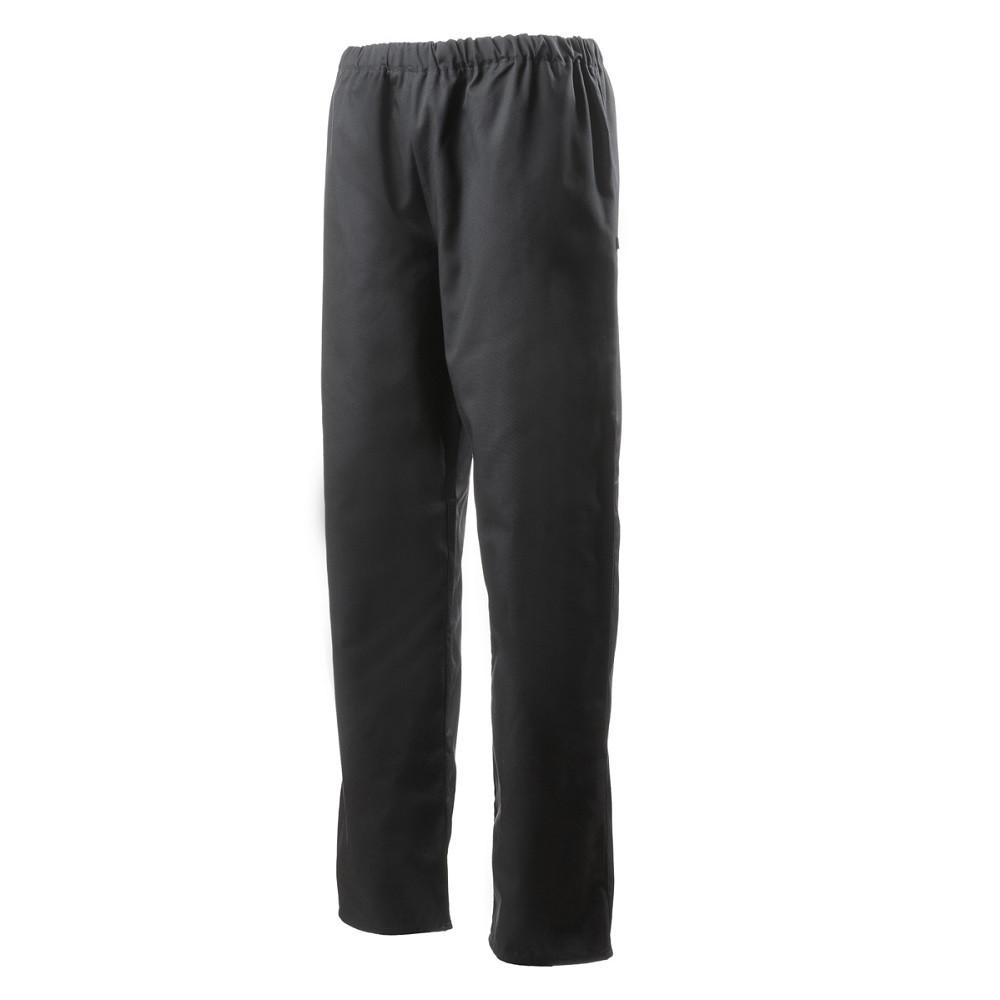 Pantalon de cuisine mixte ceinture élastiquée Robur Goyave - Noir