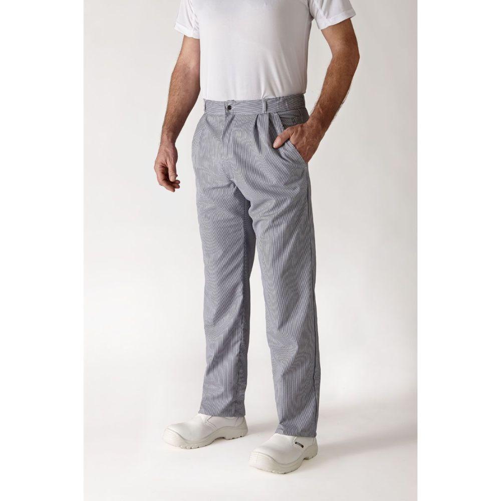 Pantalon de cuisine mixte rayé Robur Alize - Marine