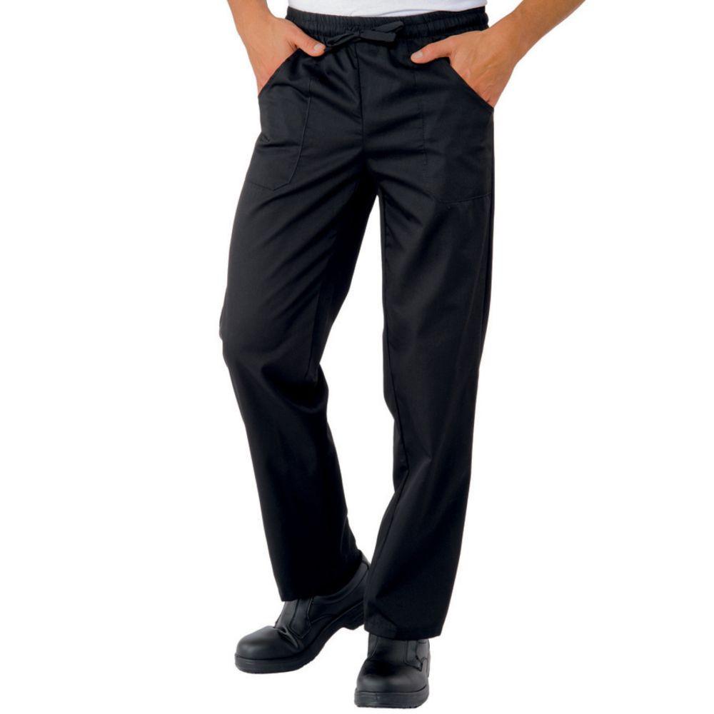 Pantalon de cuisine noir Isacco unisexe Pantalaccio - Noir