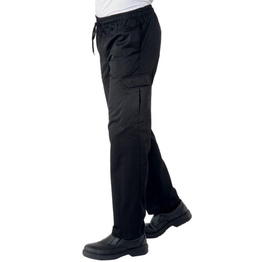 Pantalon de cuisine noir multipoches Isacco Pantachef - Noir