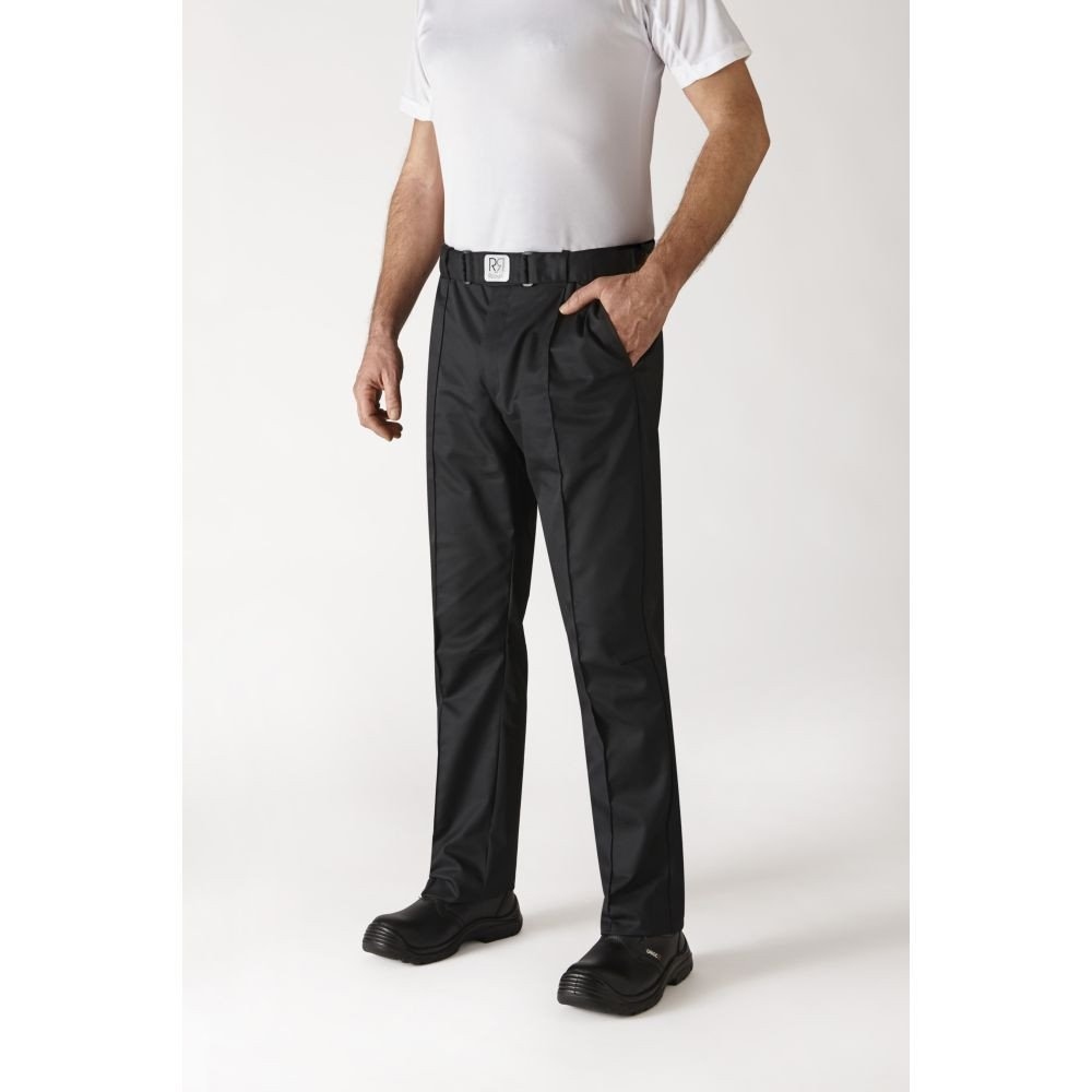 Pantalon de cuisine ceinture élastiquée Robur Sarenal - Noir