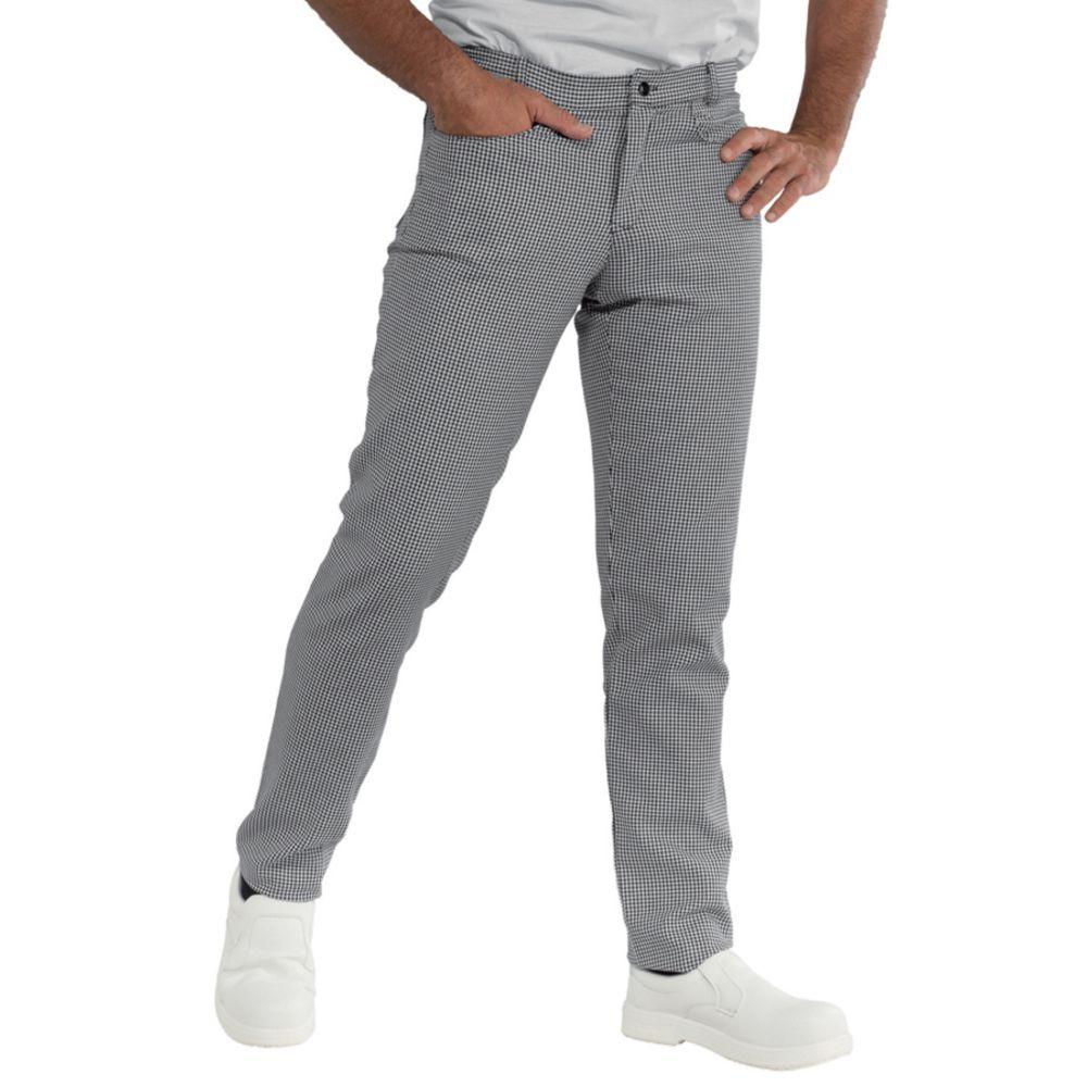 Pantalon de cuisine slim Isacco Yale Pied de poule - Pied de poule
