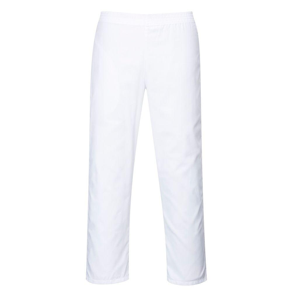 Pantalon de cuisine taille élastiquée Portwest - Blanc