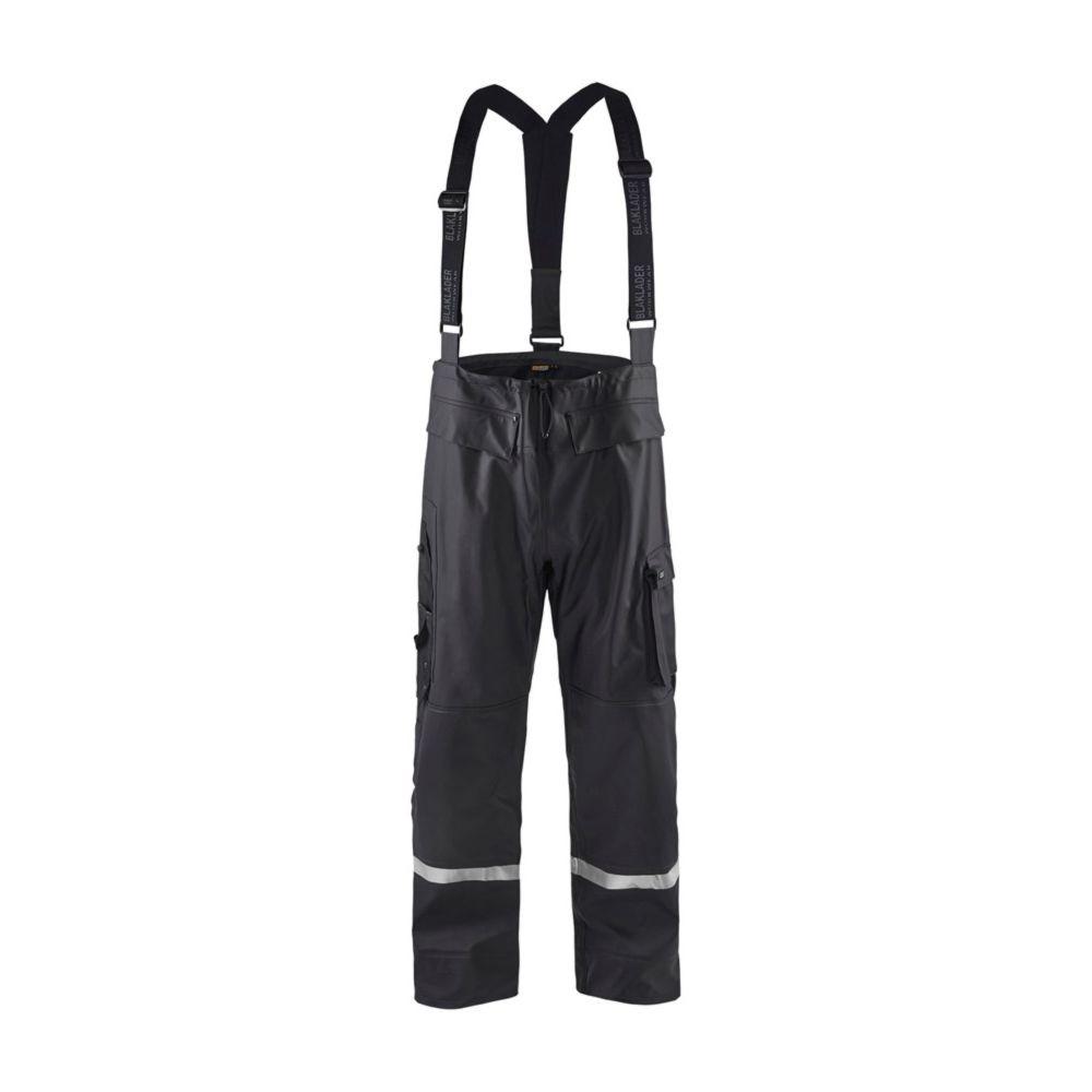 Pantalon de pluie à bretelles Blaklader bandes réfléchissantes - Noir