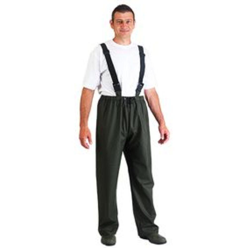 Pantalon de pluie à bretelles Coverguard imperméable - Vert