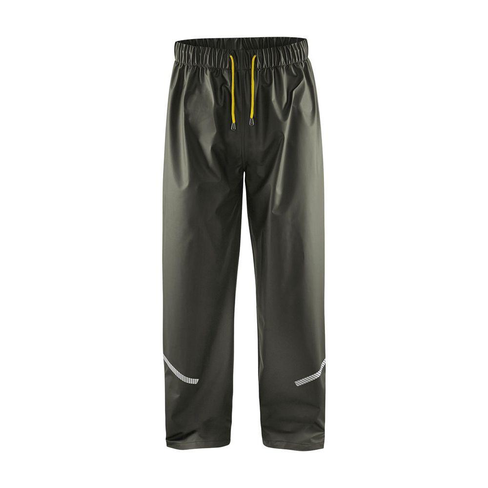 Pantalon de pluie Blaklader avec bandes réflechissantes - Vert Armée