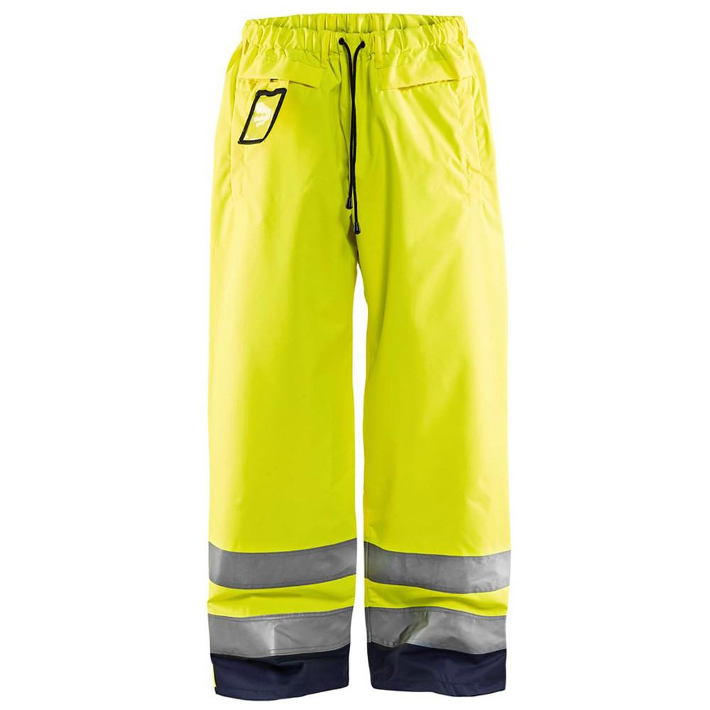 Pantalon de pluie étanche Blaklader haute visibilité - Jaune / Marine