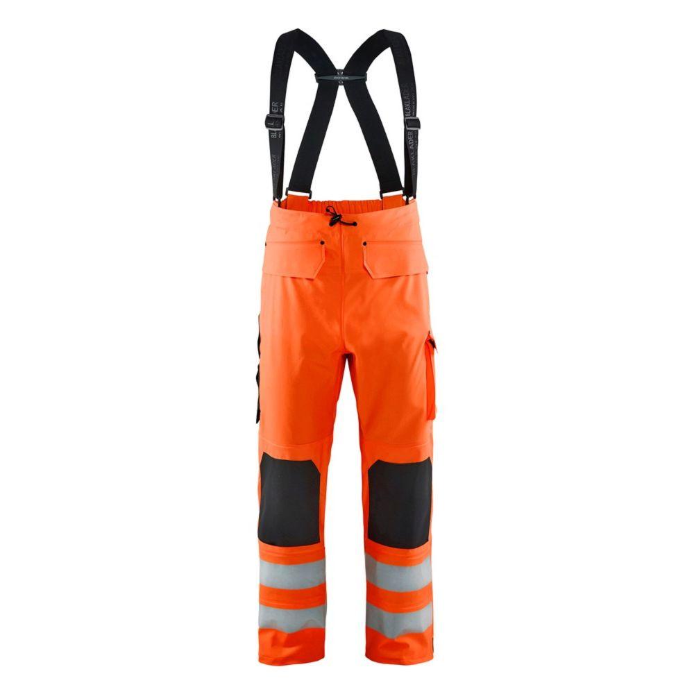 Pantalon de pluie à bretelles haute visibilité Blaklader NIVEAU 3 - Orange Fluo