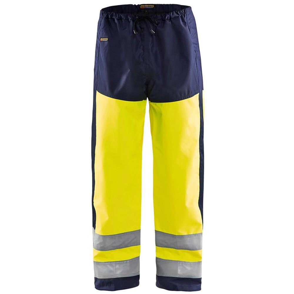 Pantalon de pluie haute visibilité étanche Blaklader bicolore - Jaune / marine
