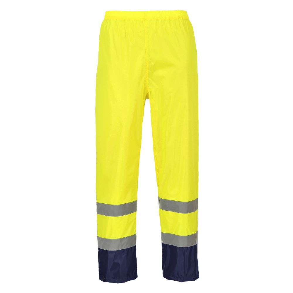 Pantalon de pluie Haute-Visibilité Portwest Bicolore - Jaune / Marine