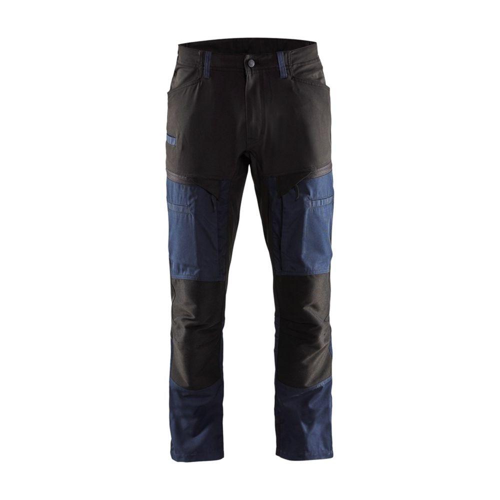 Pantalon de service multipoches Blaklader + STRETCH - Marine Foncé / Noir