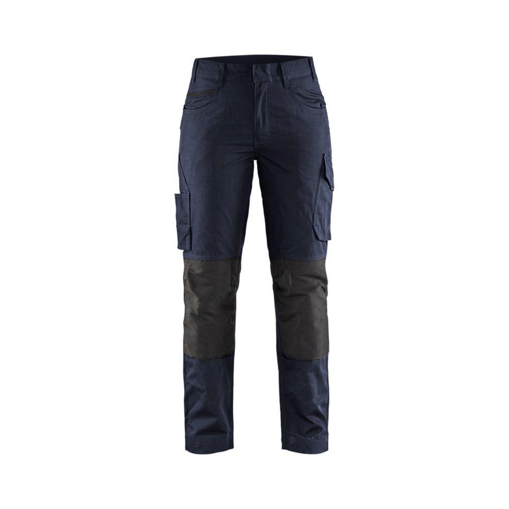 Pantalon de services femme Blaklader +STRETCH - Marine foncé / Noir