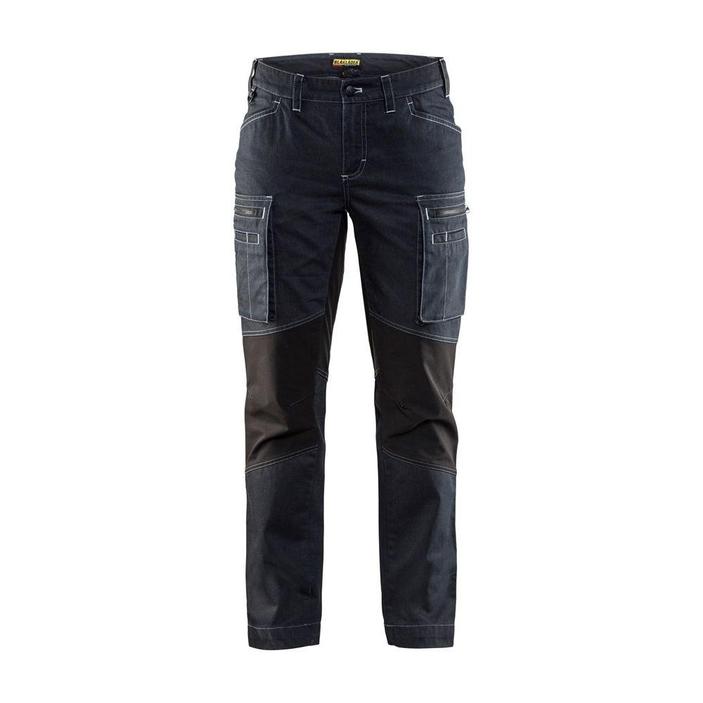 Pantalon de services femme stretch Blaklader Cordura Denim Marine / Noir avant