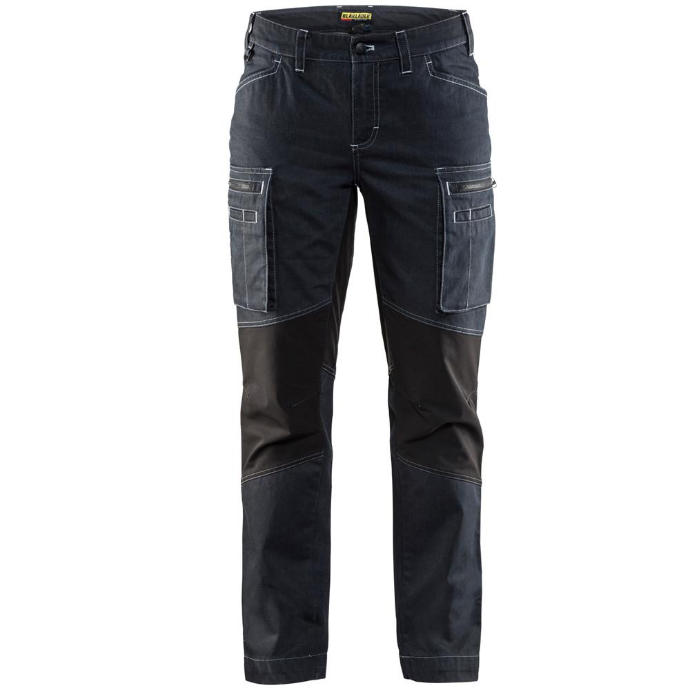 6656ca1aba ... Pantalon de services femme stretch Blaklader Cordura Denim - Marine /  Noir ...