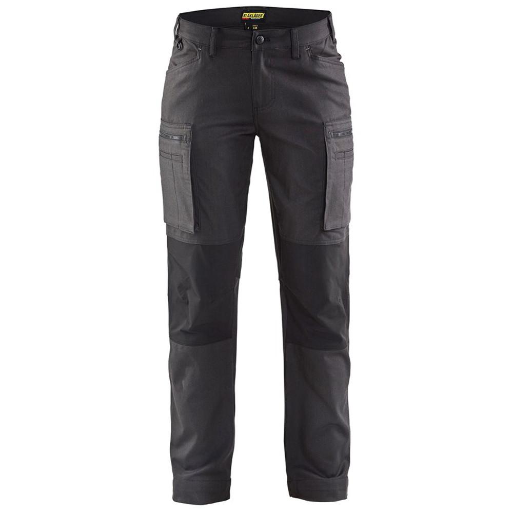 Pantalon de services stretch femme Blaklader Cordura Nyco - Gris Foncé / Noir
