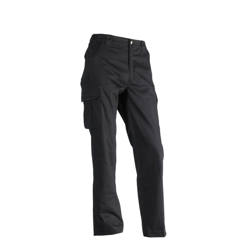 Pantalon de travail 100% coton Odin Herock - Noir