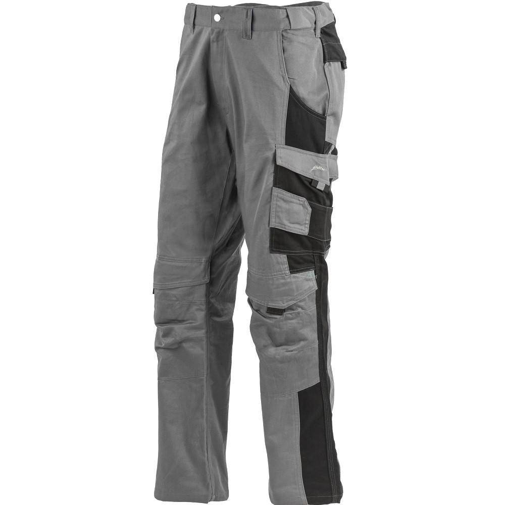 Pantalon de travail 100% coton multipoches Albatros PROFI LINE - Gris / Noir
