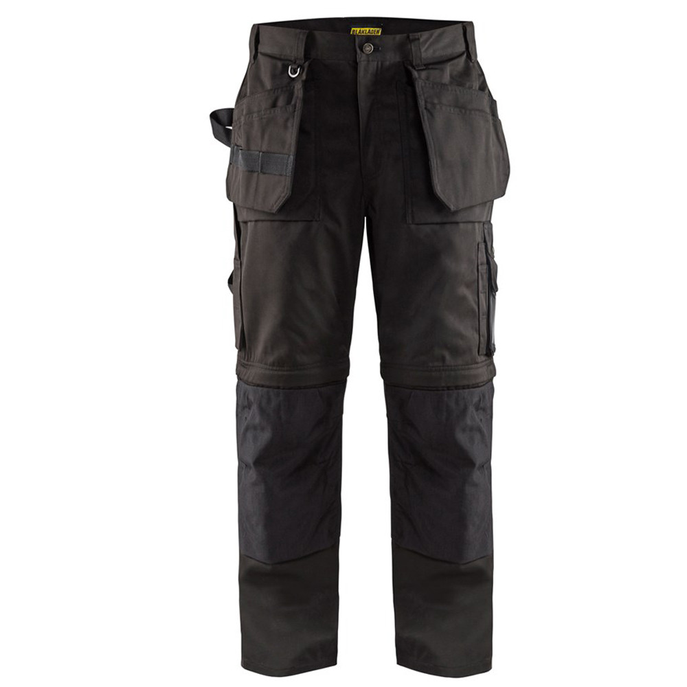 Pantalon de travail Blaklader Artisan bas amovibles - Noir