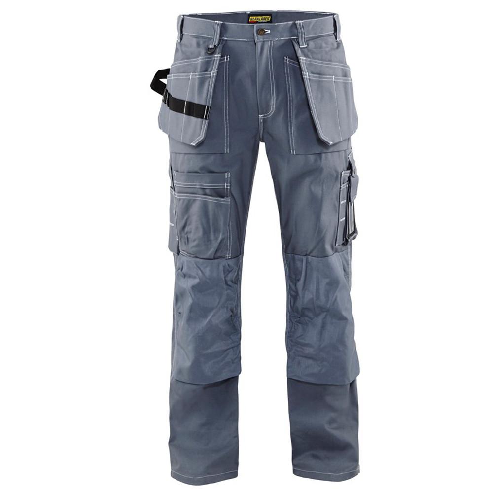 Pantalon de travail Blaklader artisan + 100% coton - Gris