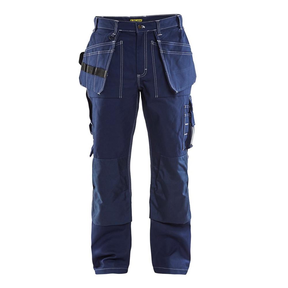 Pantalon de travail Blaklader artisan 100% coton croisé - Marine