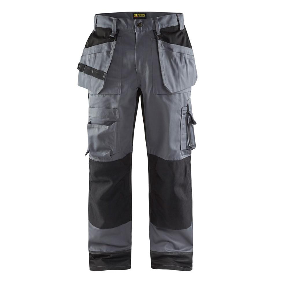 Pantalon de travail artisan + Blaklader bicolore - Gris / Noir