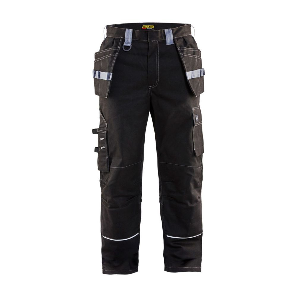 Pantalon de travail artisan Blaklader RETARDANT FLAMME - Noir / Gris