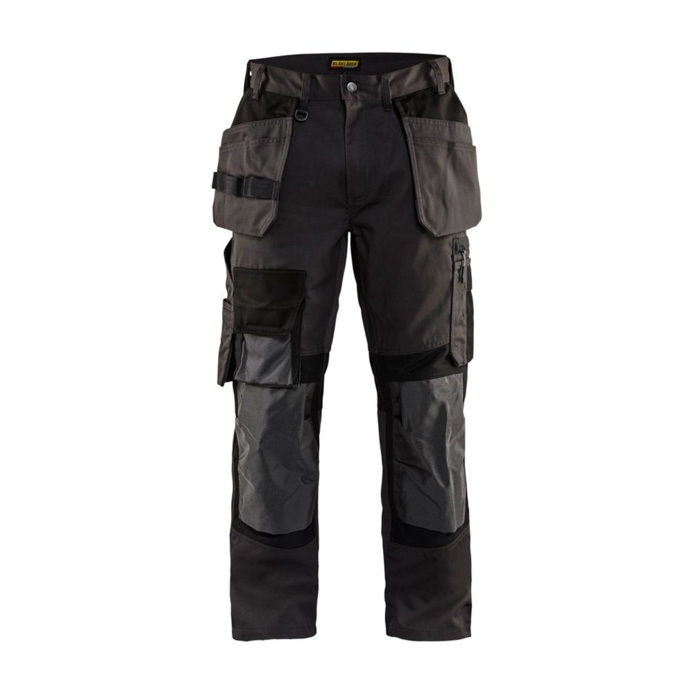 Pantalon de travail artisan Blaklader + STRETCH - Gris Foncé / Noir