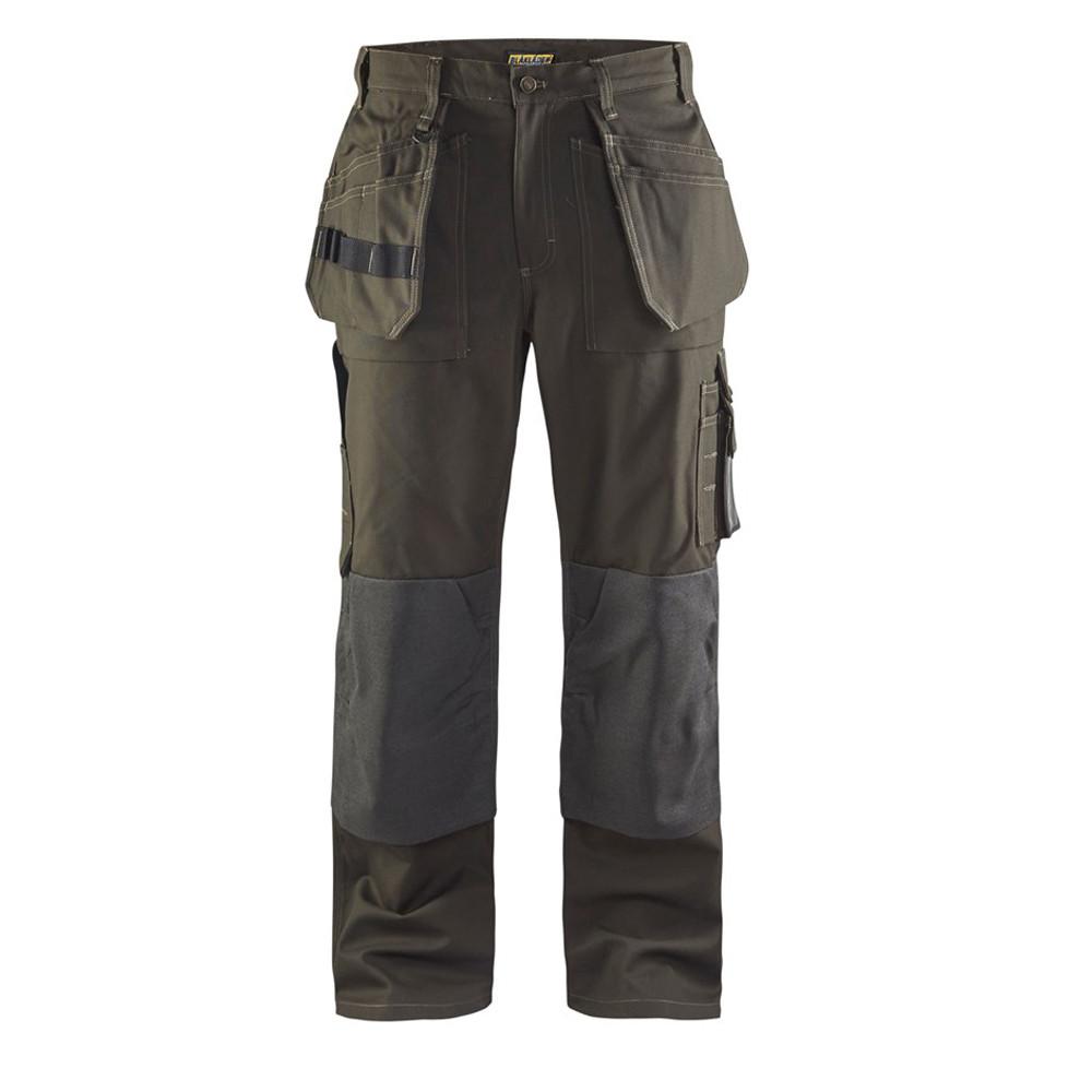 Pantalon de travail Blaklader artisan cordura nyco - Vert Olive / Noir