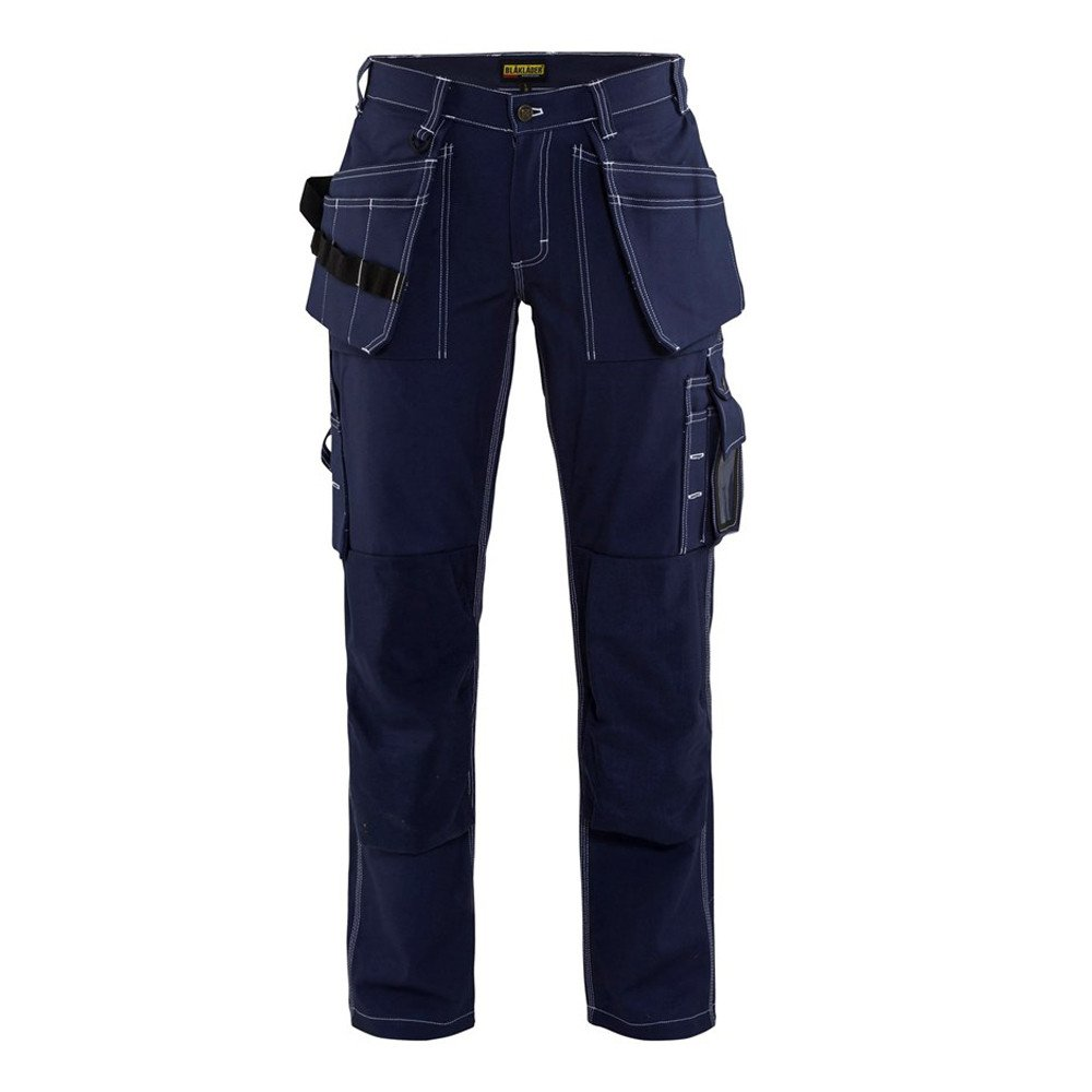 Pantalon de travail artisan femme Blaklader 100% coton - Marine