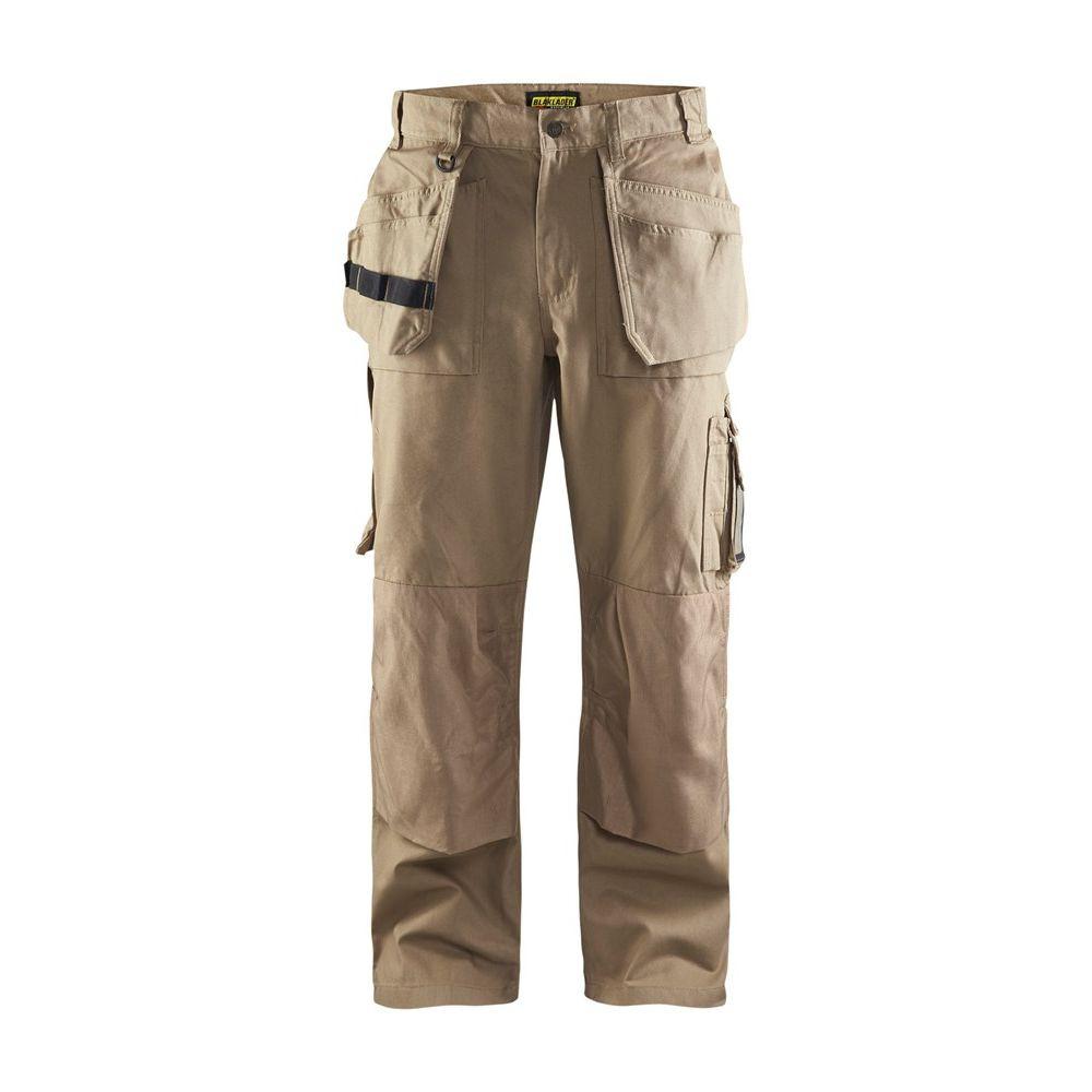Pantalon de travail artisan Blaklader 100% coton - Beige Antique
