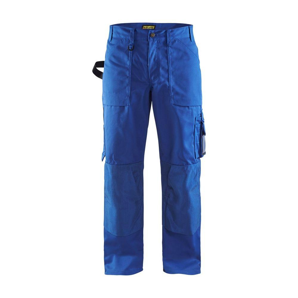 Pantalon de travail multipoche Blaklader artisan polycoton - Bleu Royal