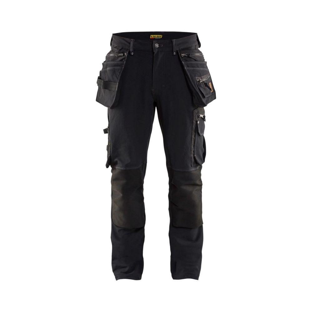 Pantalon de travail artisan X1900 Blaklader STRETCH 4D - Noir