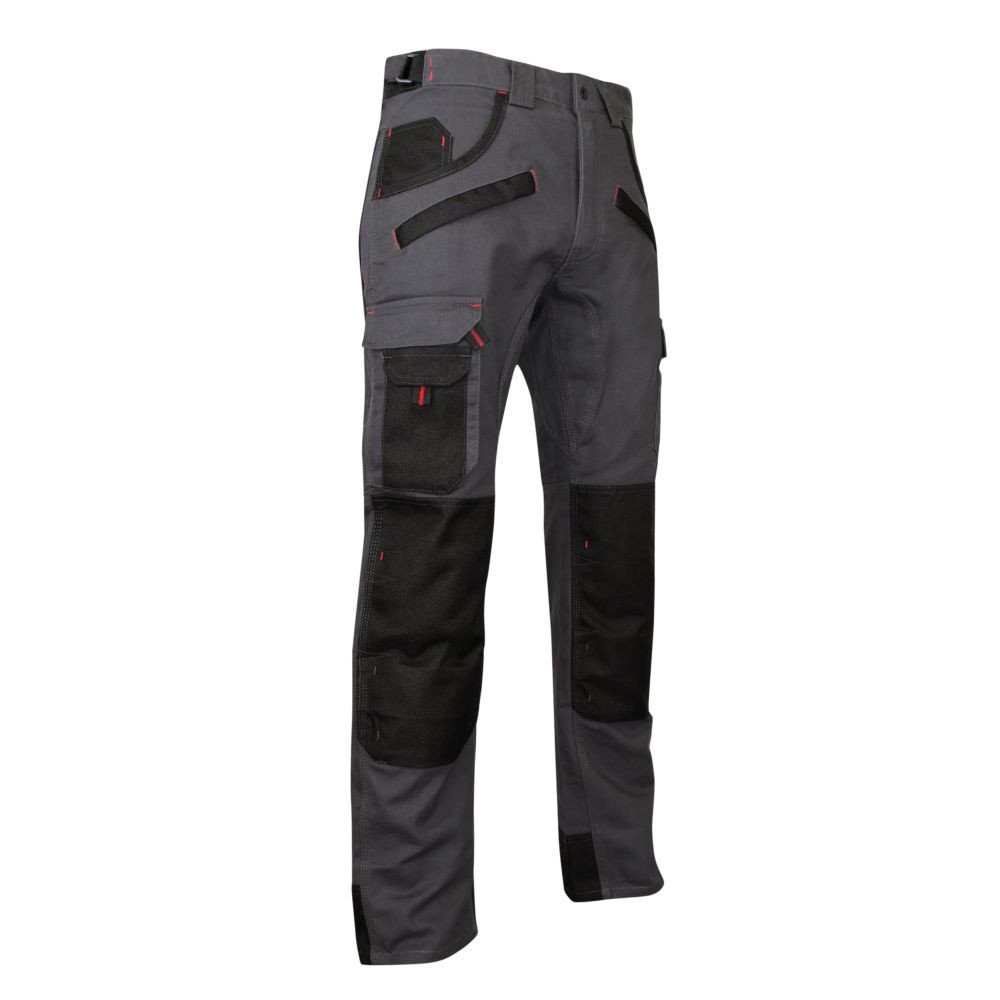 Pantalon de travail bicolore avec poches genouilléres ARGILE LMA - Avant