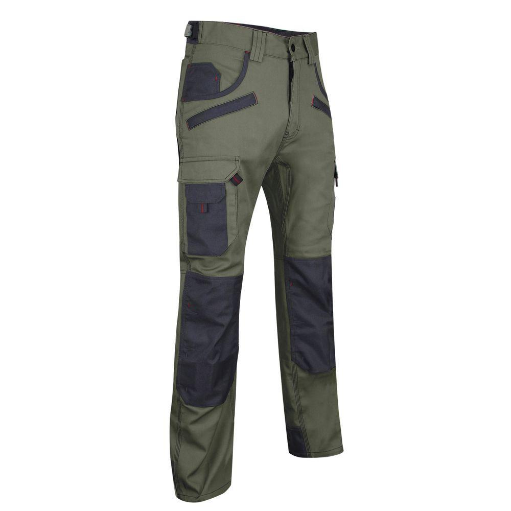 Pantalon de travail bicolore avec poches genouilléres LMA Secateur - Vert