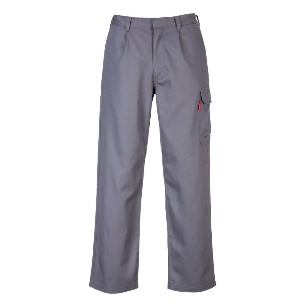 Pantalon de travail soudeur Bizweld Portwest Cargo - Gris