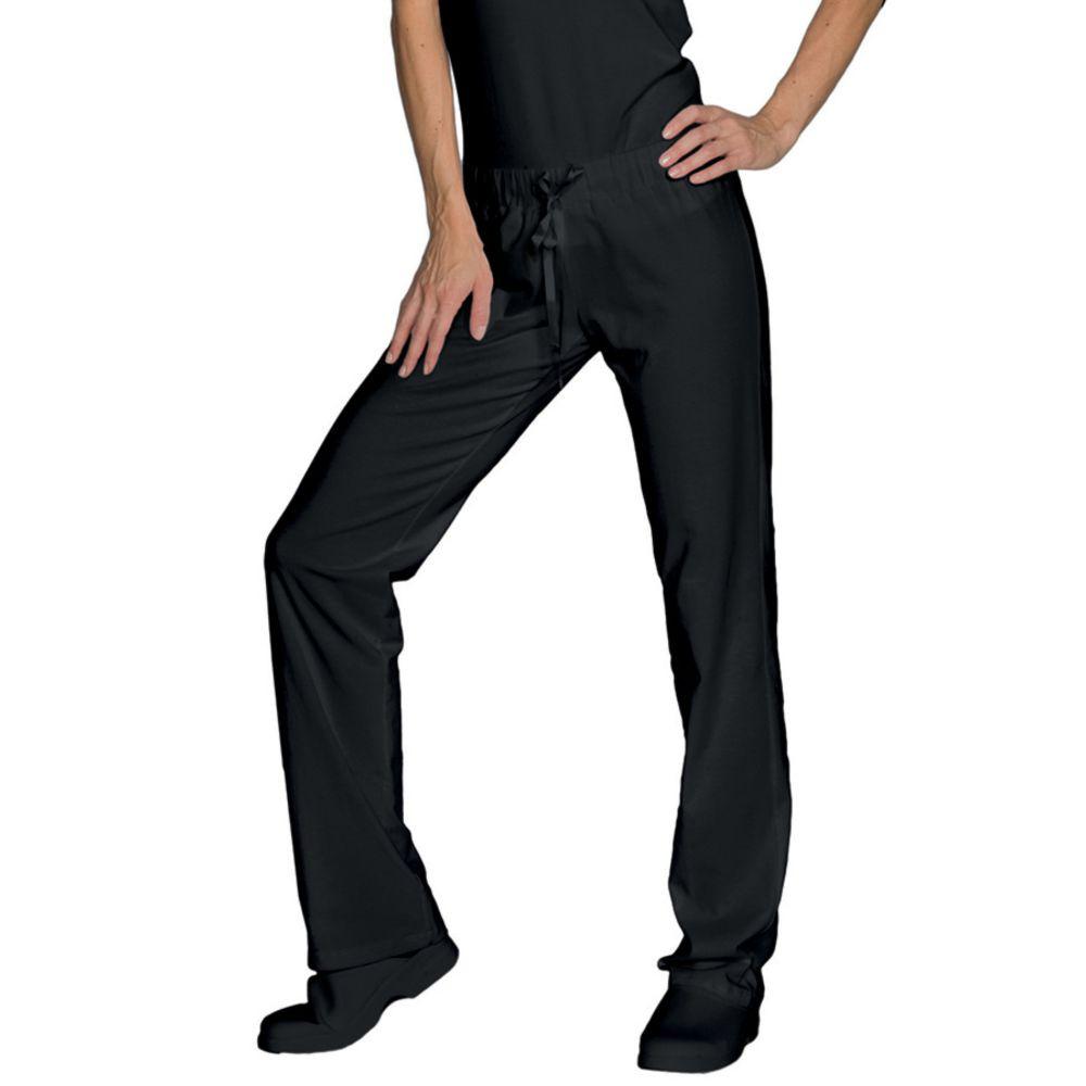 Pantalon de travail cuisine/médical femme noir Isacco Pantajersey - Noir