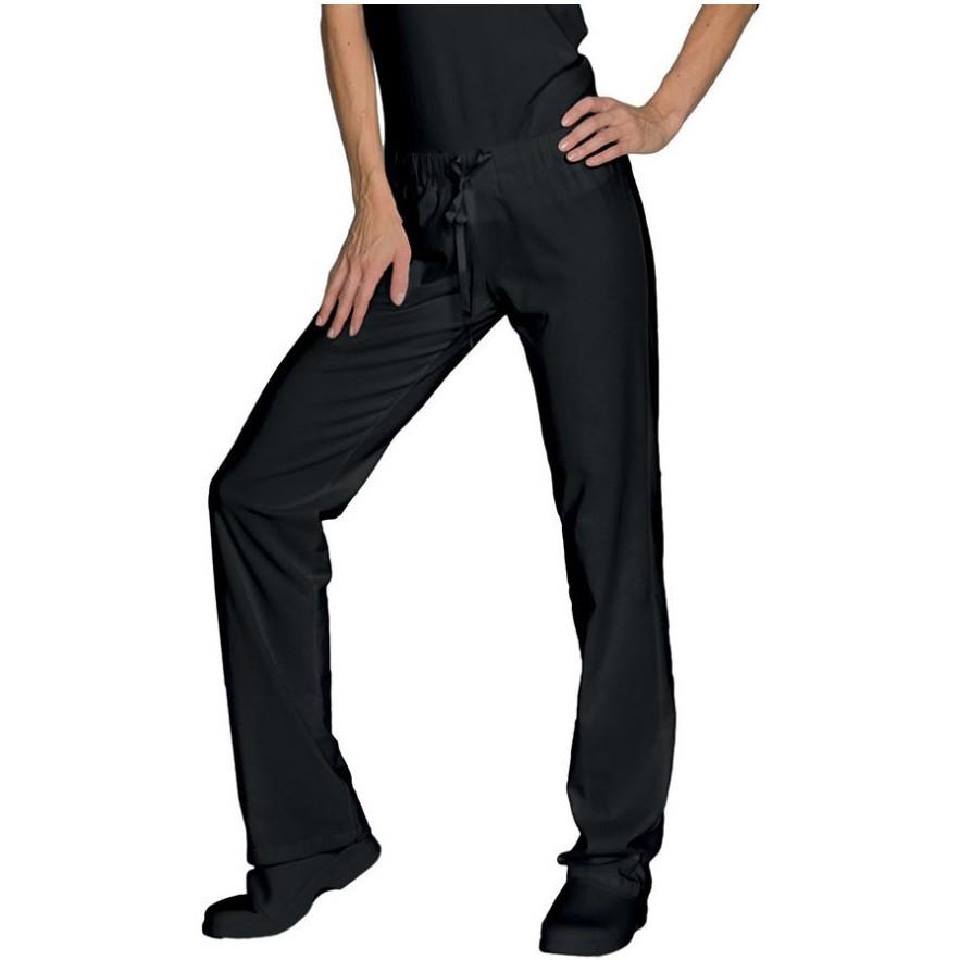 pantalon de travail cuisine m dical femme noir isacco. Black Bedroom Furniture Sets. Home Design Ideas
