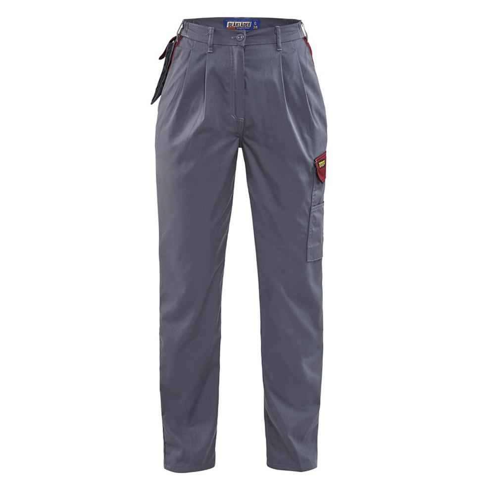 Pantalon de travail femme Blaklader Polycoton - Gris / Bordeaux