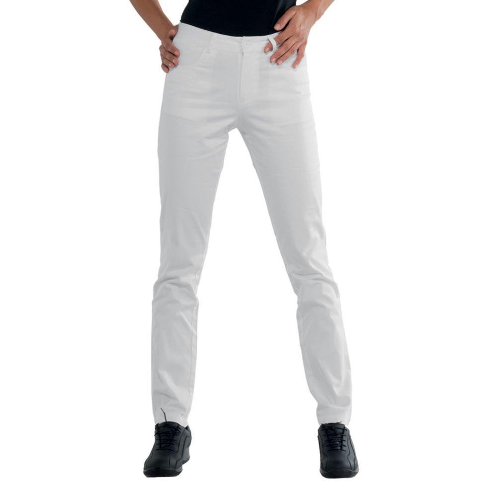 Pantalon de travail femme blanc Isacco Pantalone Margarita - Blanc