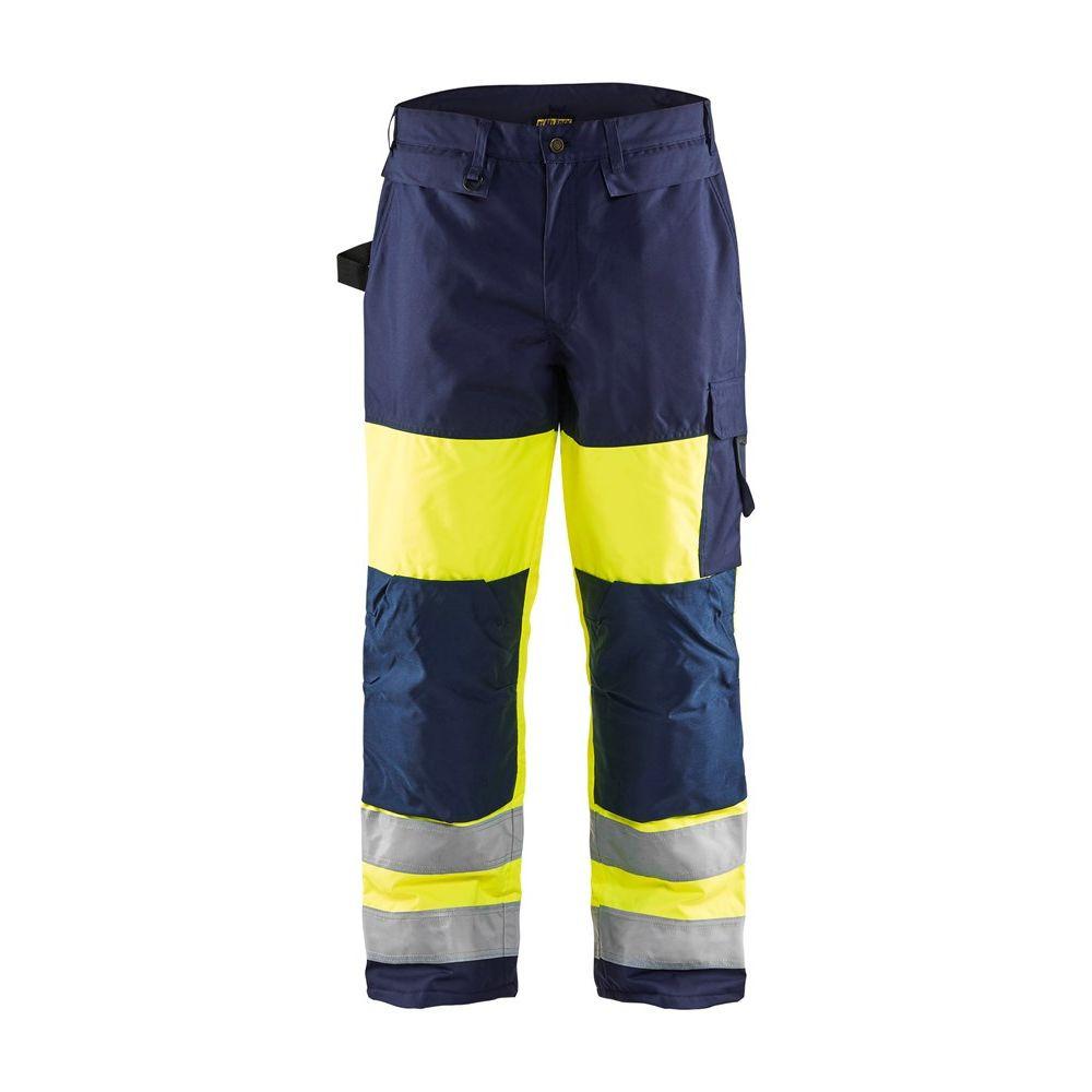 Pantalon de travail haute visibilité Blaklader hiver renforts cordura - Jaune / Marine