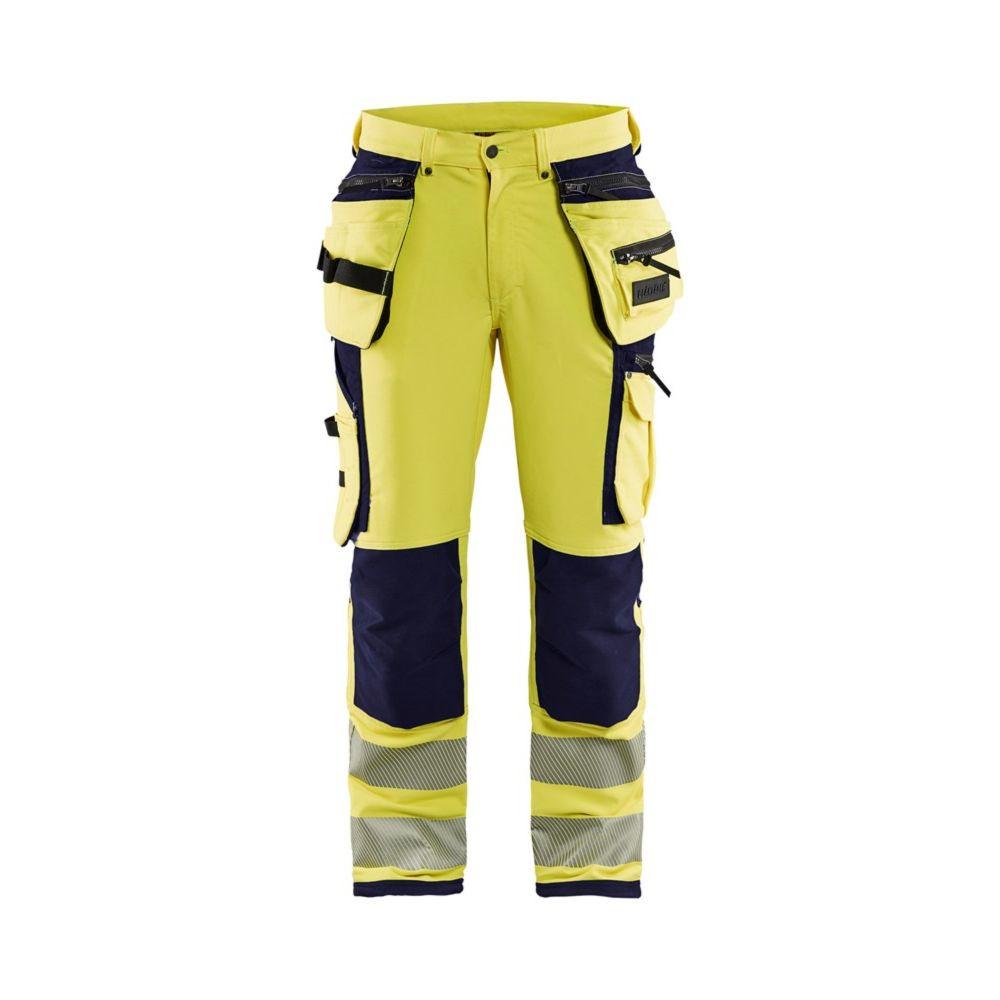 Pantalon de travail haute visibilité Blaklader STRETCH 4D Classe 2 - Jaune / Marine