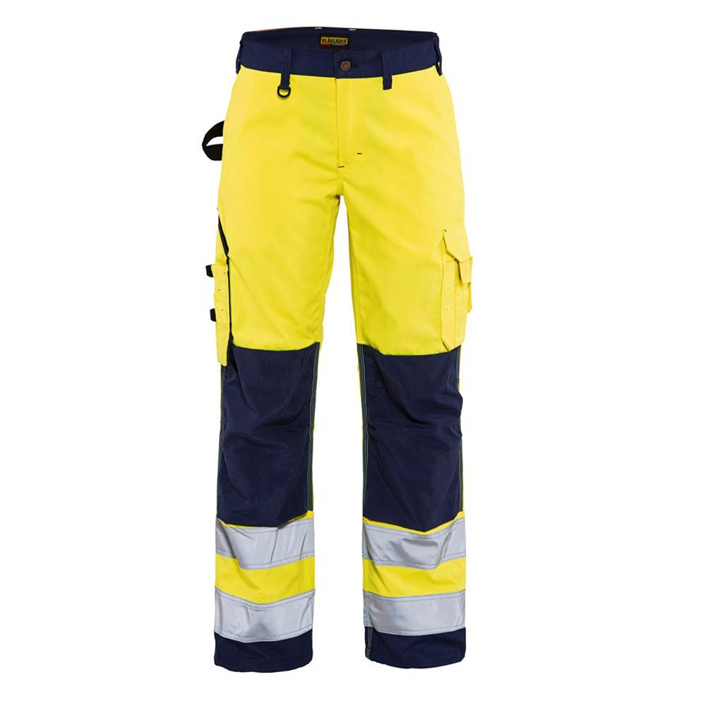 Pantalon de travail haute visibilité femme Blaklader renfort Cordura - Jaune / marine